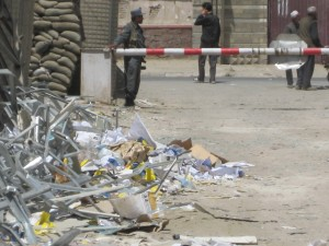 passport lane bomb debris Kabul