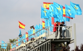 Alonso fans at the Grand Prix